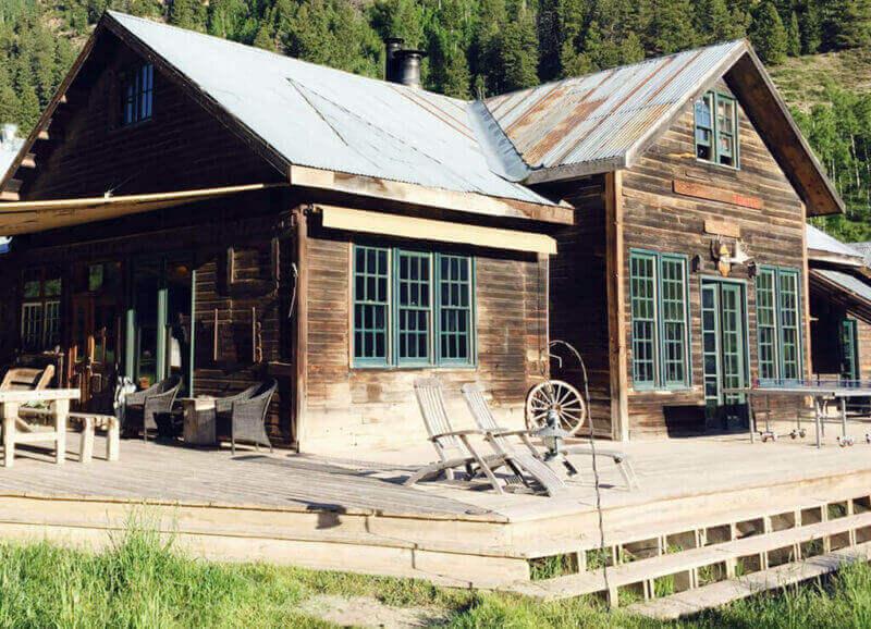The lodge at Dunton Hot Springs