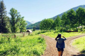 On my way to breakfast at Dunton River Camp in Colorado