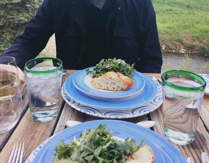 Fresh arugula salads for dinner