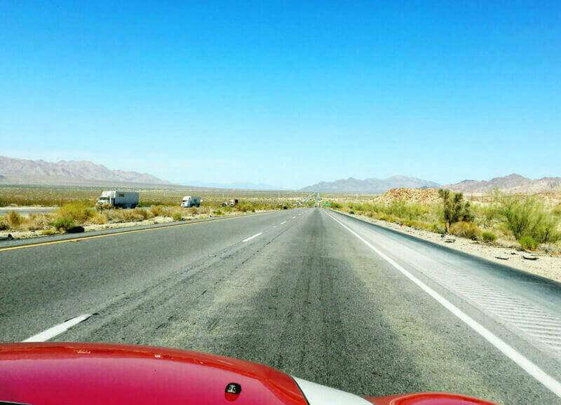 On the desert road, east of L.A.
