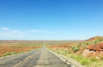 A red desert in Utah