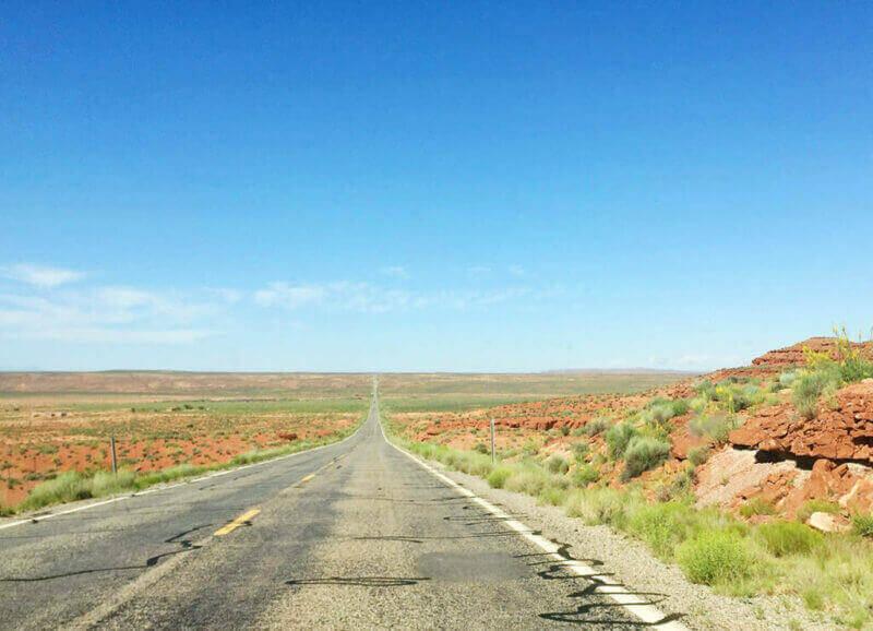 The red desert in Utah