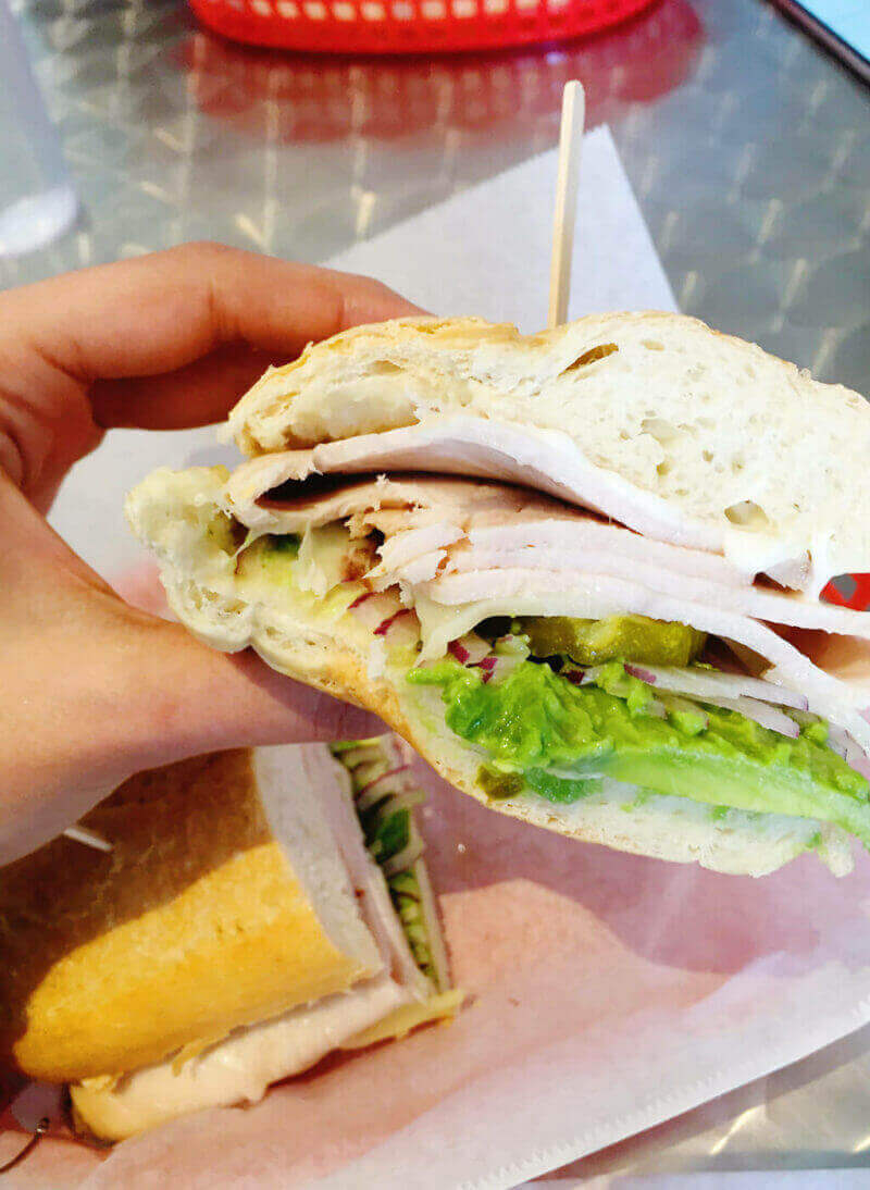 Delicious sandwich from the Sandwich Spot in Palm Springs