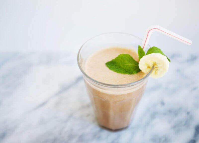 Delicious cacao smoothie