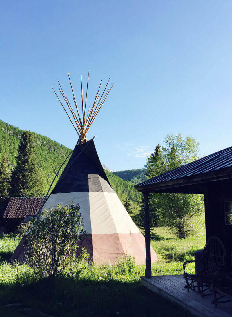 The teepee at Dunton Hot Springs