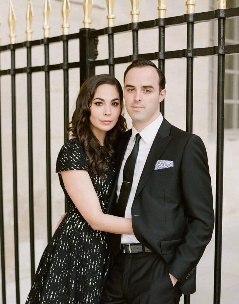 Eva and Jon in the Palais Royal, Paris, France