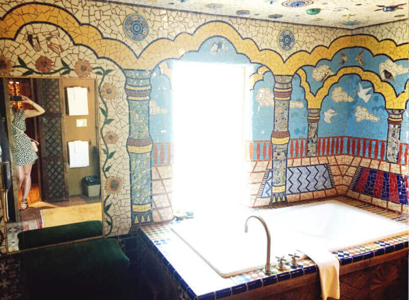 Bathtub of Inn of the Five Graces in Santa Fe, New Mexico
