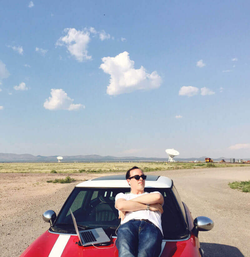 Jon channeling Jodie Foster in Contact at the VLA