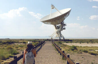 Eva Grall at the Very Large Array in New Mexico