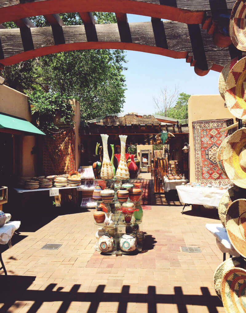 Scene from a Santa Fe marketplace