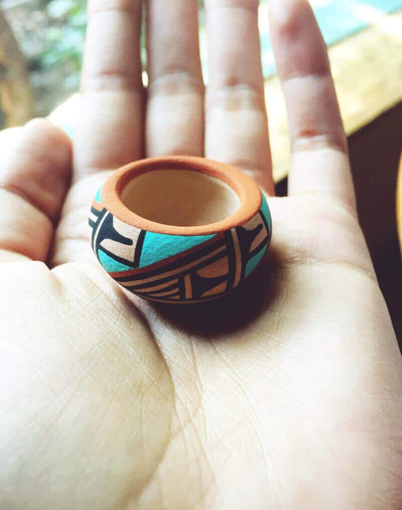 Teeny handmade bowl from Santa Fe, New Mexico