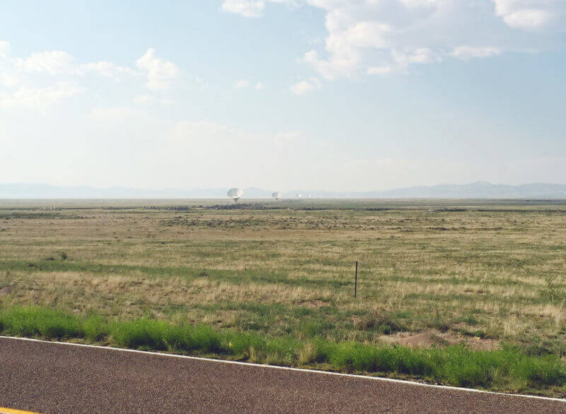 The Very Large Array as seen from the road