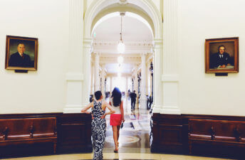 She's So Bright - Me & Galiya inside the Austin Capitol