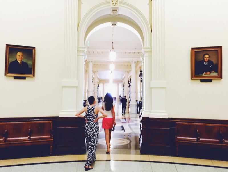 She's So Bright - Me & Galiya inside the Austin Capitol