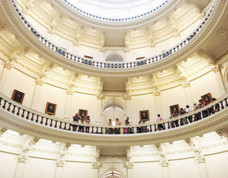 She's So Bright - Inside the Austin State Capitol Dome