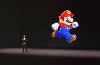 Shigeru Miyamoto, creator of many of Nintendo's iconic franchises, at the Apple Keynote on September 7, 2016
