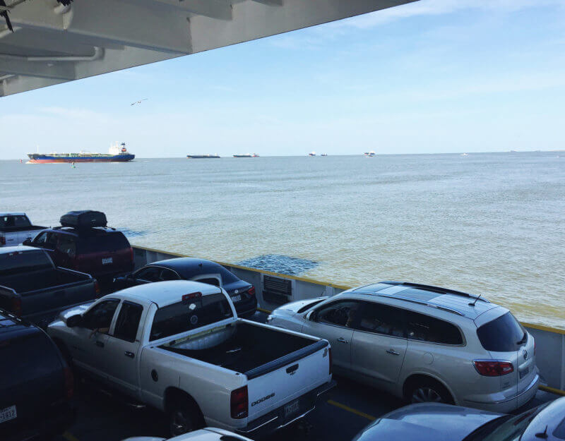 She's So Bright - The Galveston ferry to Bolivar Peninsula, in Texas