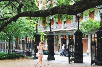She's So Bright - Eva photographing in Jackson Square, New Orleans