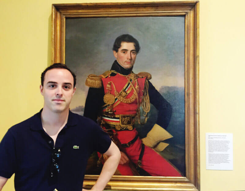 She's So Bright - Jon and his painting in the Louisiana State Museum