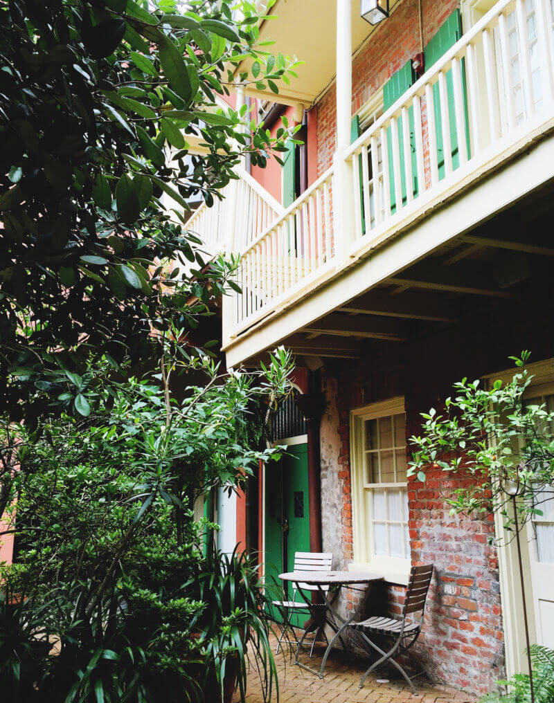She's So Bright - Soniat House Hotel, New Orleans hotel courtyard