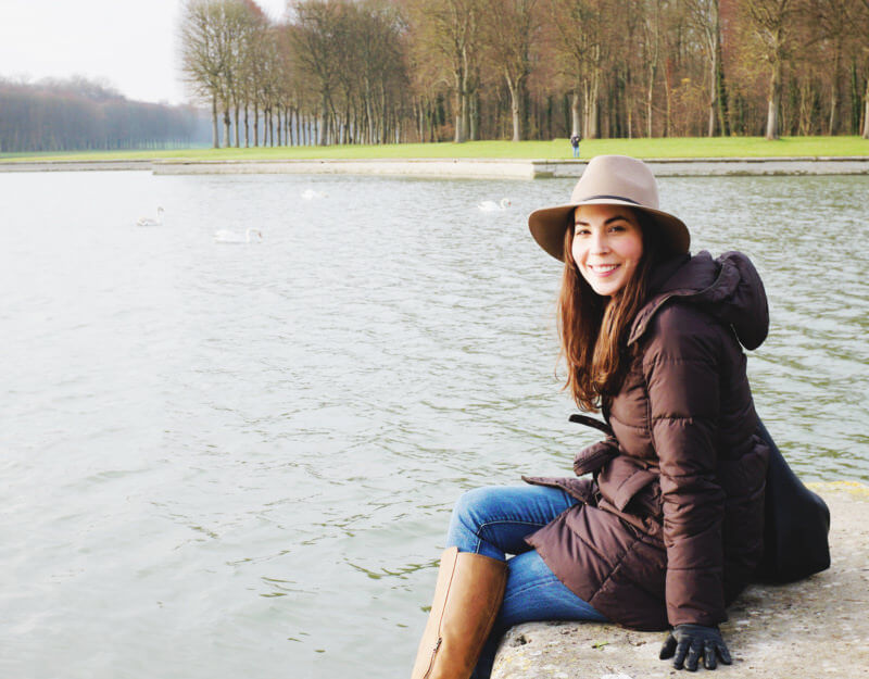 She's So Bright - A Visit to the Versailles Gardens in Winter