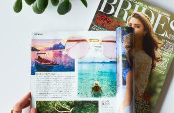 She's So Bright - Eva in Brides Magazine