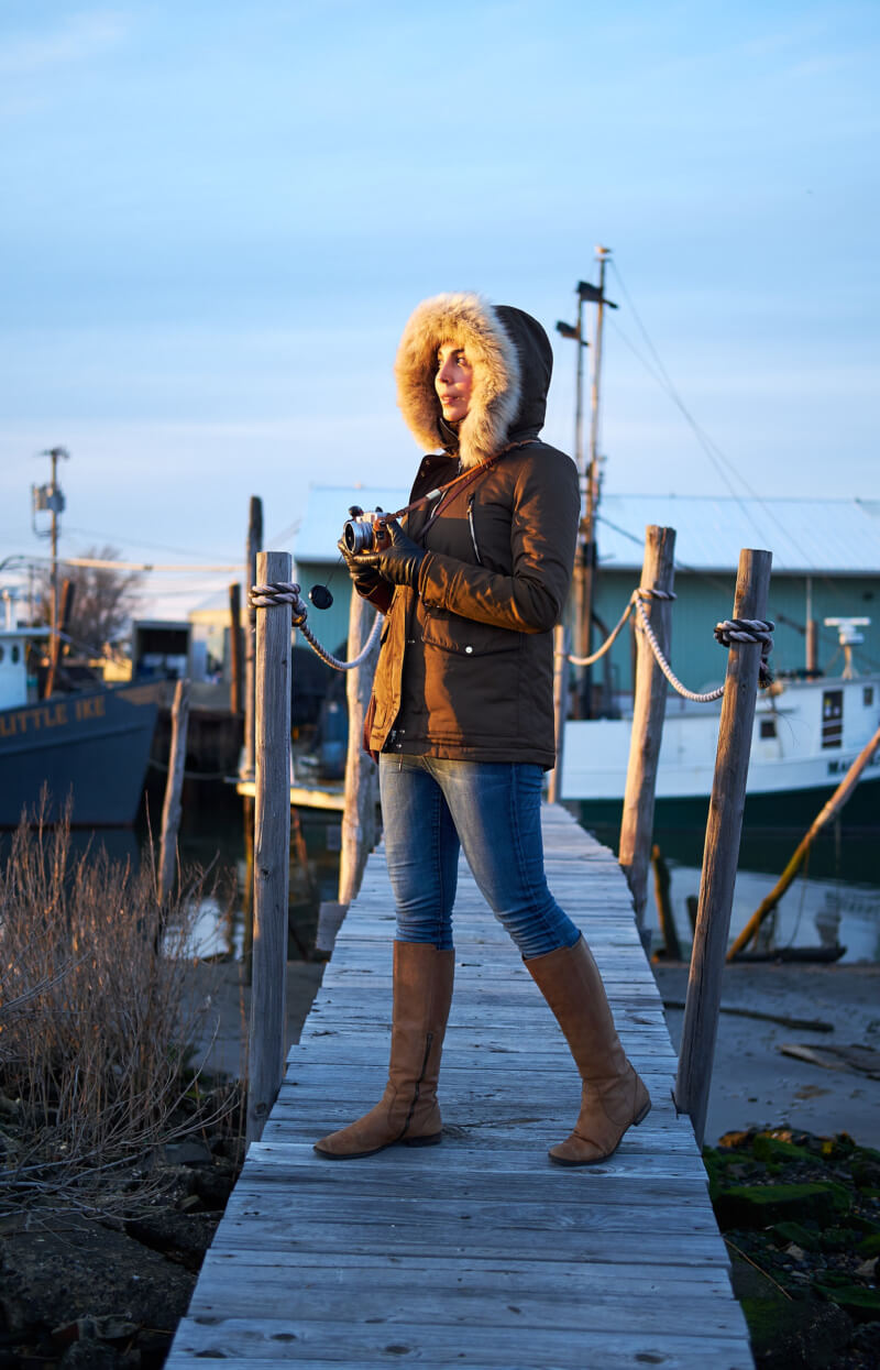 She's So Bright - Photography Practice Around Bedford's Tiny Fishing Pier