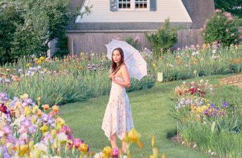 She's So Bright - A Walk Through the Iris Gardens