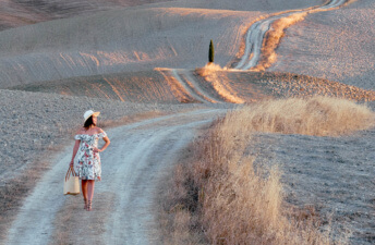 She's So Bright - Sunrise at Val d'Orcia