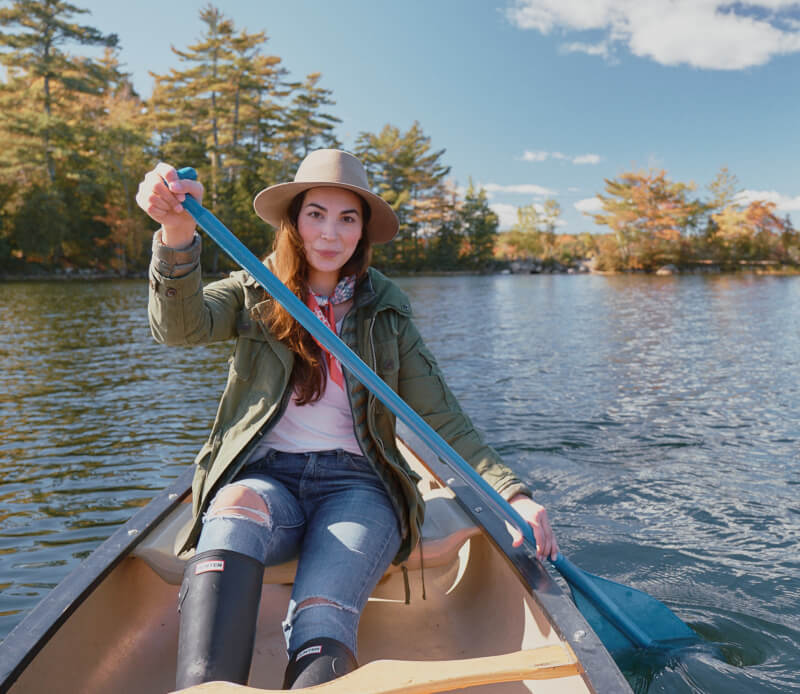 She's So Bright - Canoeing in Maine