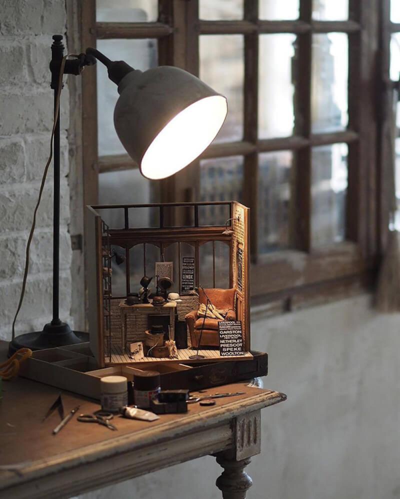 She's So Bright - Artist Kiyomi's Miniature French World