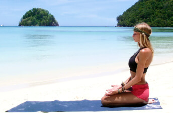 She's So Bright - A Yoga Class That's Like Taking a Vacation Every Day