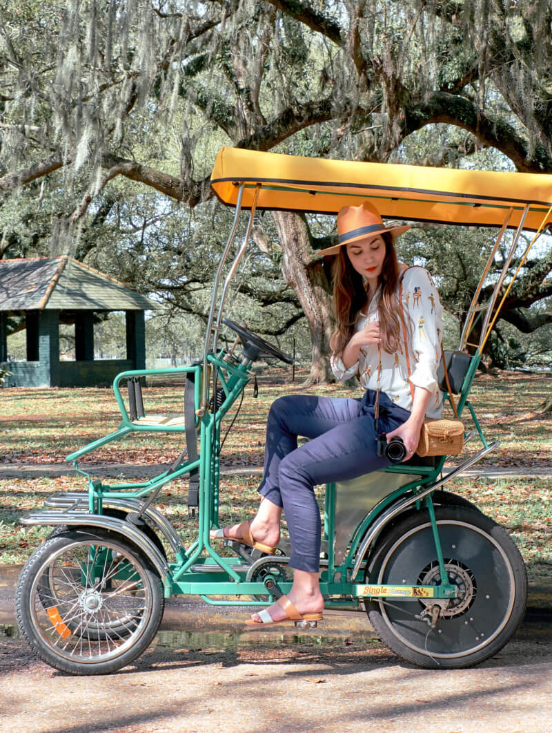 She's So Bright - Peddling Around New Orlean's City Park with my Beau