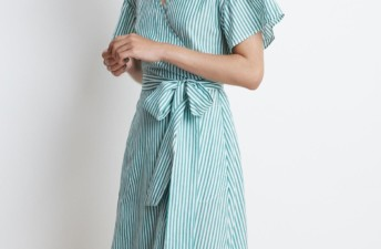 She's So Bright - Just Bought, Velvet Striped Dress