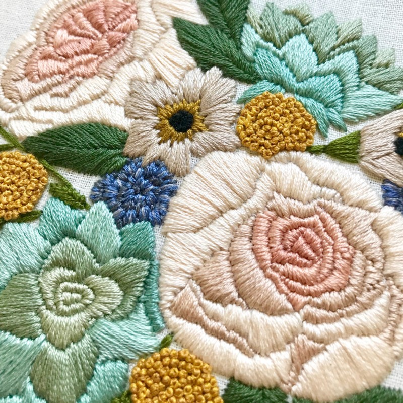 She's So Bright - The Gorgeous Pastel Embroidery of Lark Rising. Beautiful, craft, Etsy, patterns, design, pastel.