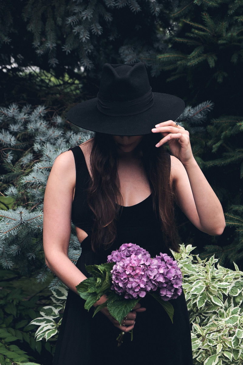 Thoughts for the Weekend and How I'm Staying Sane the Rest of the Summer. Style, fashion, hate, flowers, hydrangeas, black.