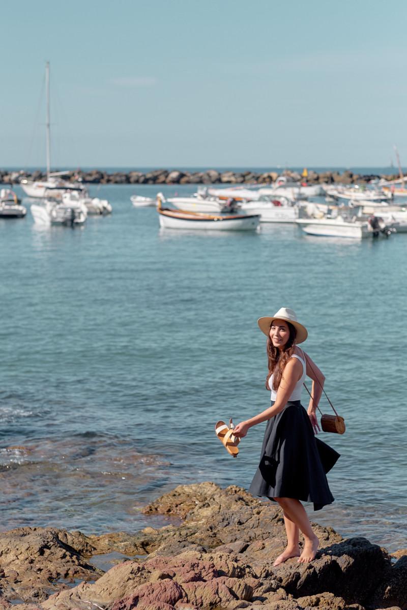 She's So Bright - A Perhaps Solution to Hesitation. Italian Vacation, Sestri Levante, Italy's Rivera, Italian paradise, vacation, ocean view, blue water, Mediterranean sea, rocky coast