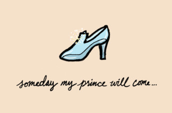 She's So Bright - How Cinderella F*cked Up My Early 20's. Cinderella, shoe, glass slipper, fairytale, happy ending, illustration.