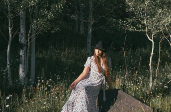 She's So Bright - Well Before the Fairytale Ending. Self Portrait, In the woods, moody, short story, beautiful, mysterious, alpine trees, Colorado, telluride, hat, style, romantic, love story.