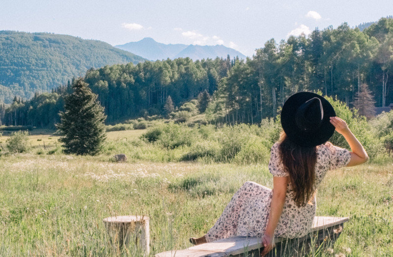 She's So Bright - 10 Ways to Unplug From Your Phone. Colorado, Telluride, Great Outdoors, Mountains, Landscape, Field, Romantic, Travel, Adventure.