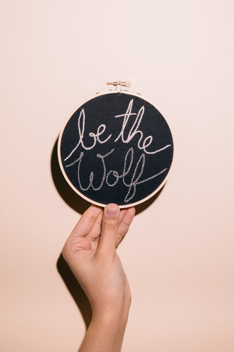 Be the Wolf - She's So Bright. Motivation, quote, words to consider, get moving, you can do it, encouragement, Abby Wambach