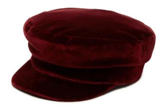 Mattie Fisherman Hat - She's So Bright, Just Bought, Janessa Leone, Cap, 70's Style, Velvet, Fall Fashion