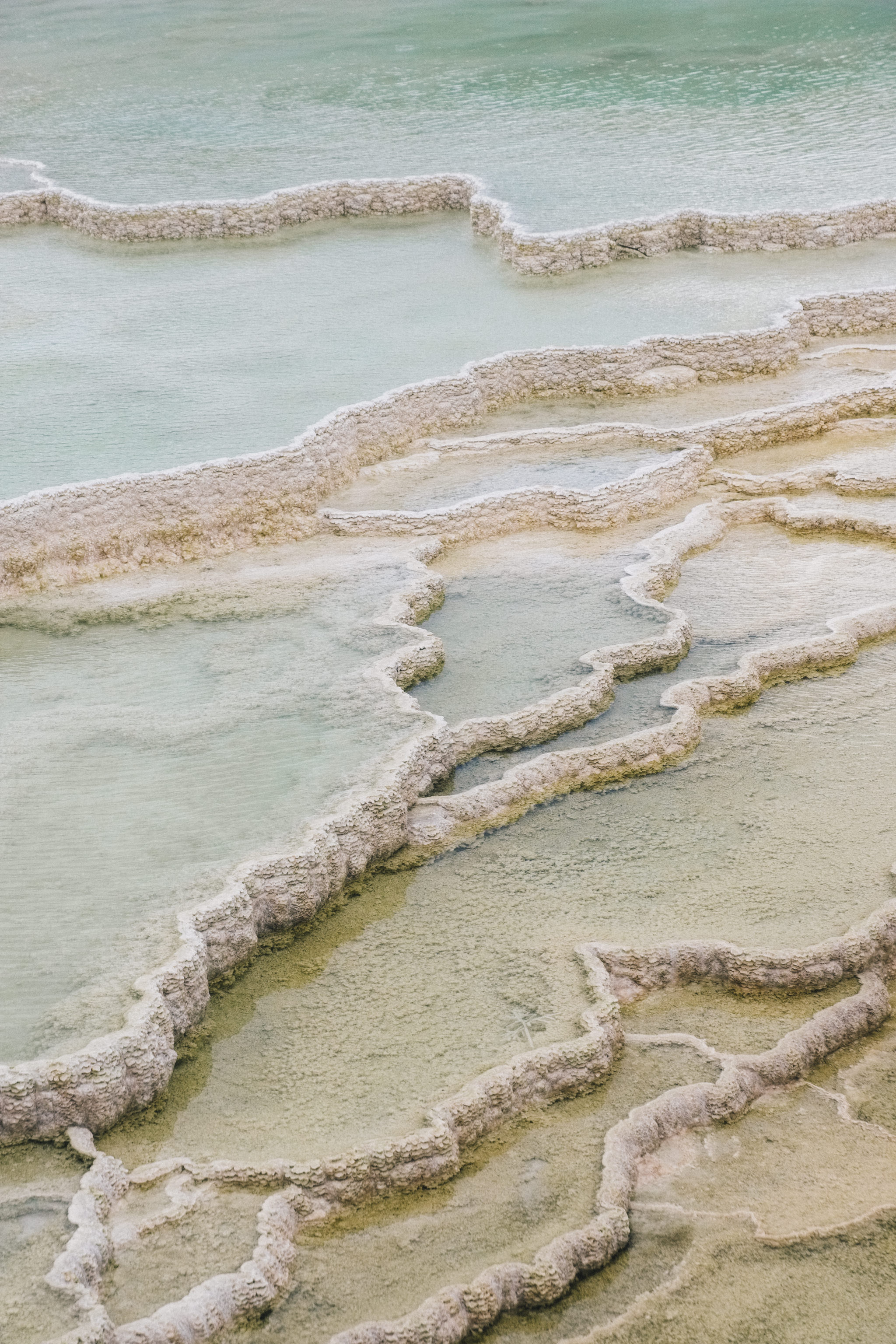 Abstract Images of Yellowstone's Colorful Landscape - She's So Bright, Travel, Landscape, Colors, Pastels, Shapes, Photography, Minerva Terraces, Mammoth Hot Springs