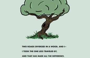 Two Roads, or Maybe Three - She's So Bright, Opinion, Illustration, Graphic, Thoughts, Robert Frost, Two Roads, Life, Destiny