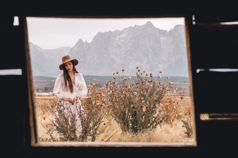 A New Year of Challenge and Adventure - She's So Bright, Grand Teton National Park, Adventure, Old West, Style, Western, Prairie, Zimmerman, My Style, Outfit, Inspiration, Log Cabin, Wanderlust, Wyoming, Window, Mountain Setting, Travel