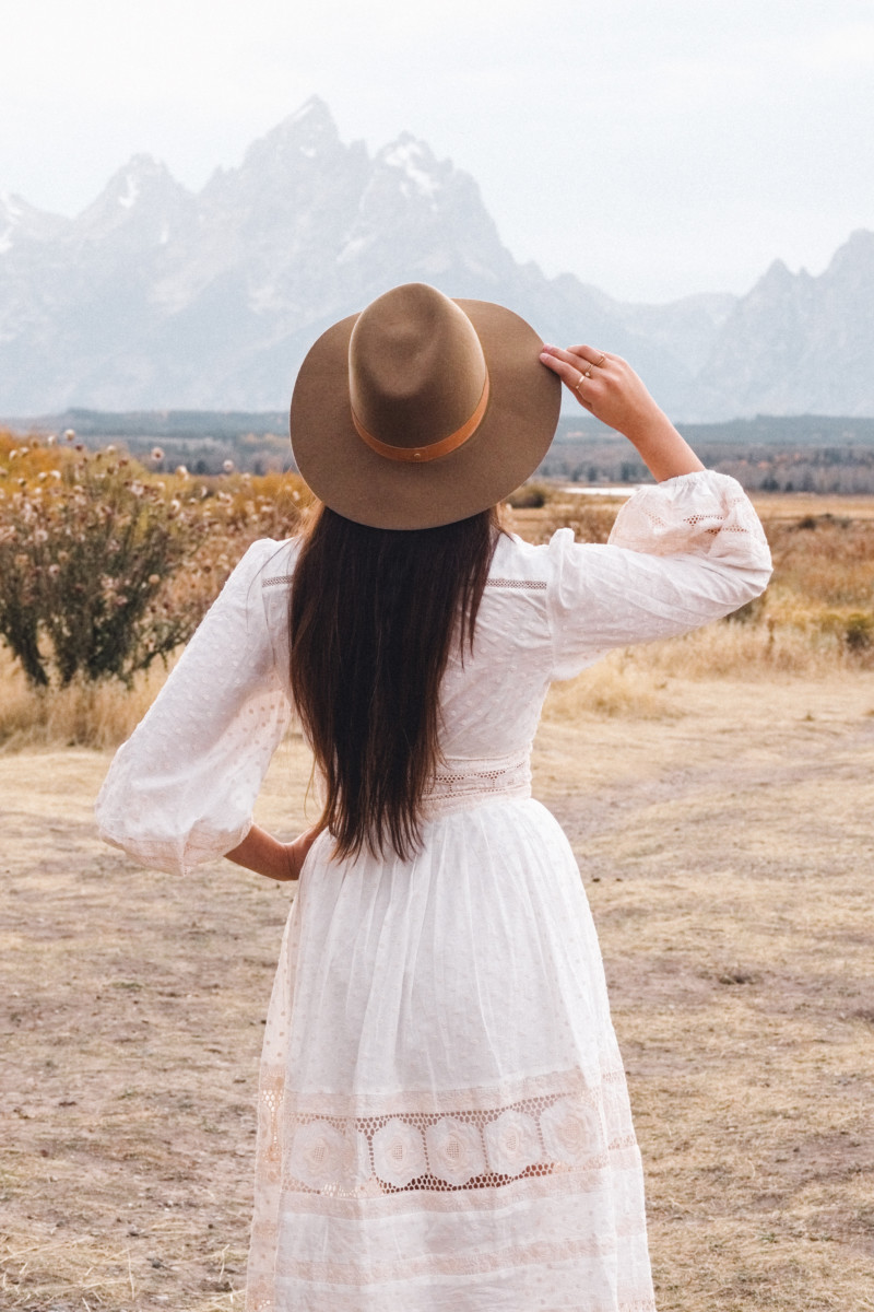 A New Year of Challenge and Adventure - She's So Bright, Grand Teton National Park, Adventure, Old West, Style, Western, Prairie, Zimmerman, My Style, Outfit, Inspiration, Log Cabin, Wanderlust, Wyoming, Fashion, Romantic, Jackson Hole