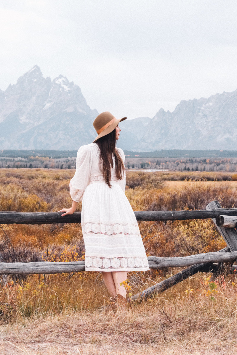A New Year of Challenge and Adventure - She's So Bright, Grand Teton National Park, Adventure, Old West, Style, Western, Prairie, Zimmerman, My Style, Outfit, Inspiration, Log Cabin, Wanderlust, Wyoming, Fashion, Romantic, Jackson Hole, Landscape, Daydream