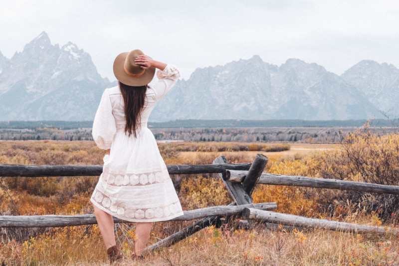 A New Year of Challenge and Adventure - She's So Bright, Grand Teton National Park, Adventure, Old West, Style, Western, Prairie, Zimmerman, My Style, Outfit, Inspiration, Log Cabin, Wanderlust, Wyoming, Fashion, Romantic, Jackson Hole, Landscape, Favorite Views